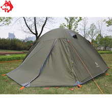 6 orang 7.9mm aluminium khemah kalis air kalis hujan pantai khemah keluarga pihak luar Blue / Tentera Hijau hiking khemah berkhemah perjalanan
