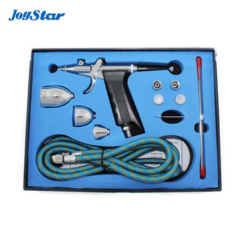 ABEST 3 Tips 3 Cups All-Purpose Gravity Dual-Action Spray Gun Trigger Airbrush Free shipping