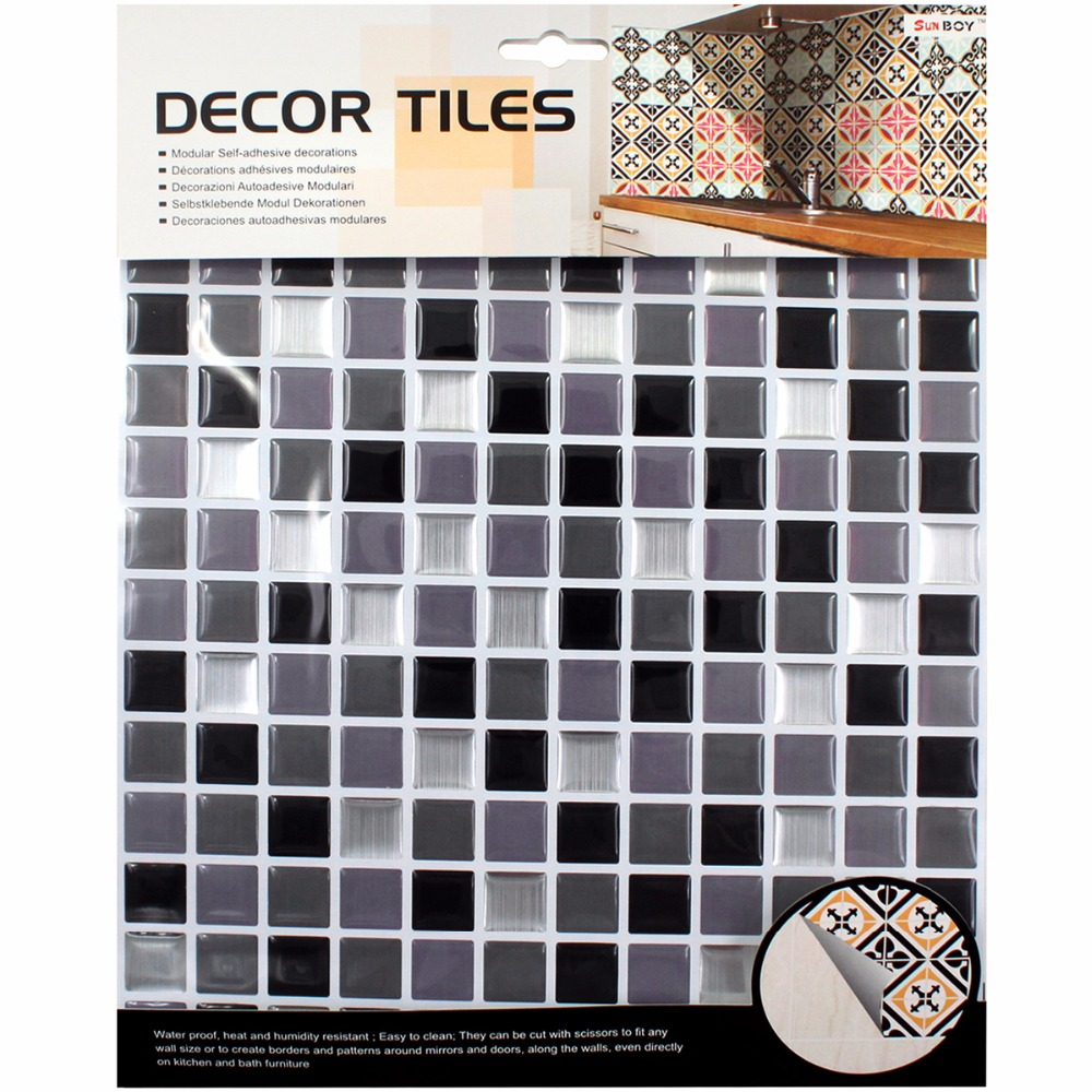 цены Kitchen bathroom special 3D wallpaper mosaic waterproof Size 10*10(in) tile Toilet decoration personality PVC drip wall stickers