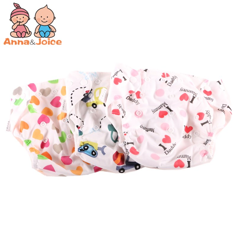 30pcs/lot  winter design Baby Diaper Reusable Nappies Training Pant Children Changing Free Size Washable Diapers choose color-in Training Pants from Mother & Kids    1