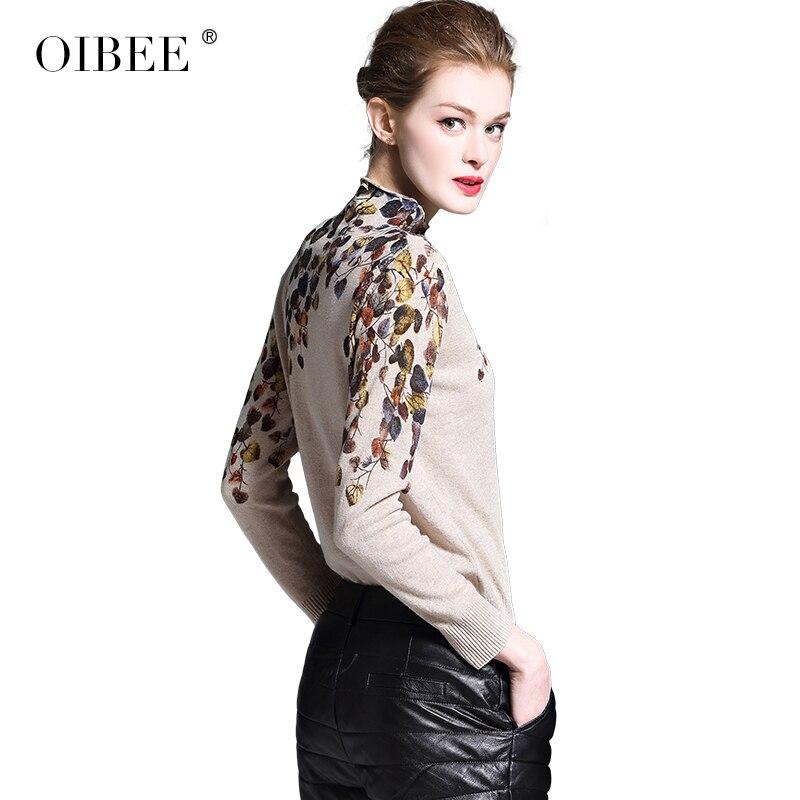 2019OIBEE модный компьютерный вязаный свитер с круглым вырезом и принтом, теплый шерстяной свитер - 4