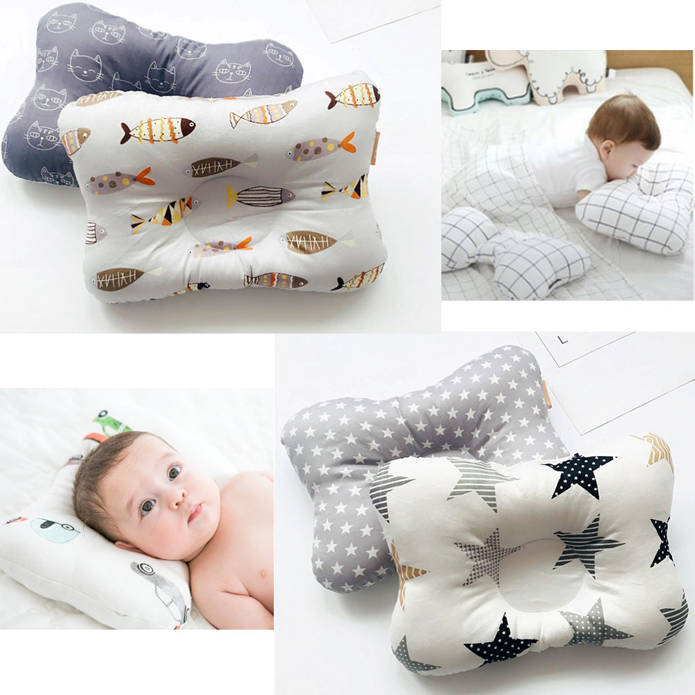Baby Shaping Pillow Prevent Flat Head Infants Dot Bedding Pillows Boy Girl Newborn Sleep Positioner Support Pillows 0-24 Month