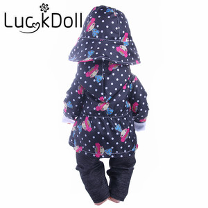 Image 4 - Cute Pattern Casual Raincoat 3Pcs=Hat+Coat+Pants Fit 18 Inch American&43 CM Baby Doll Clothes Accessories,Girls Toys,Generation