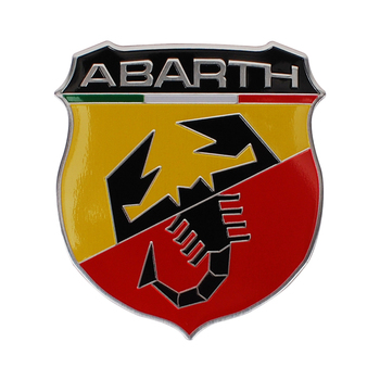 Car Accessories Auto Metal Car Sticker for Abarth 124 131 500 595 695 1000 204A Fiat Punto Alfa Berlinetta Zerocento Badge Decal image