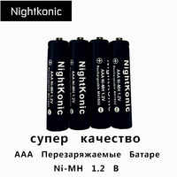 Original Hohe qualität AAA Akku MH 1,2 V NI-MH 3A aaa Batterie Nightkonic herkunft Marke