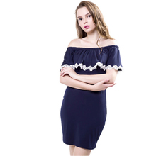 2017 speed sell through amazon hot style lace collar a word sexy mini dress (China 9264693f42e4