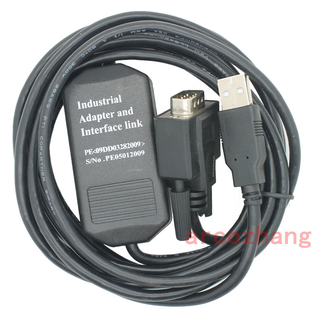 цена Free shipping Schneider Quantum 140 series CPU programming cable, USB to 232 interface