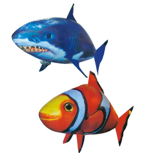 Image 5 - Remote Control Shark Toys Air Swimming Fish Infrared RC Flying Air Balloons Nemo Clown Fish Kids Toys Gifts Party Decoration