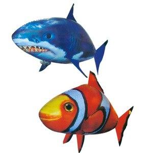 Image 5 - Uzaktan kumanda köpekbalığı oyuncak hava yüzme balıkları kızılötesi RC uçan hava balonları Nemo palyaço balığı çocuk oyuncakları hediyeler parti dekorasyon