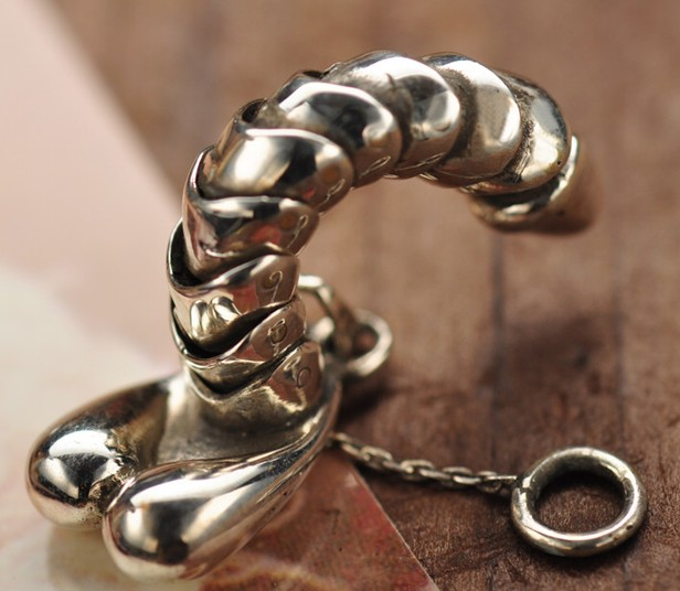 Male Penis Pendant Necklace 925 Sterling Silver in gift box Free Shipping