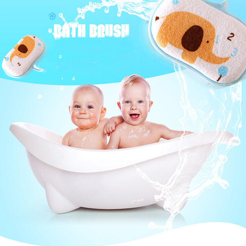 Newborn Infant Baby Bath Towel Kids Face Towel Cotton Shower Sponge Cartoon Soft Cotton Brush Kids Towel