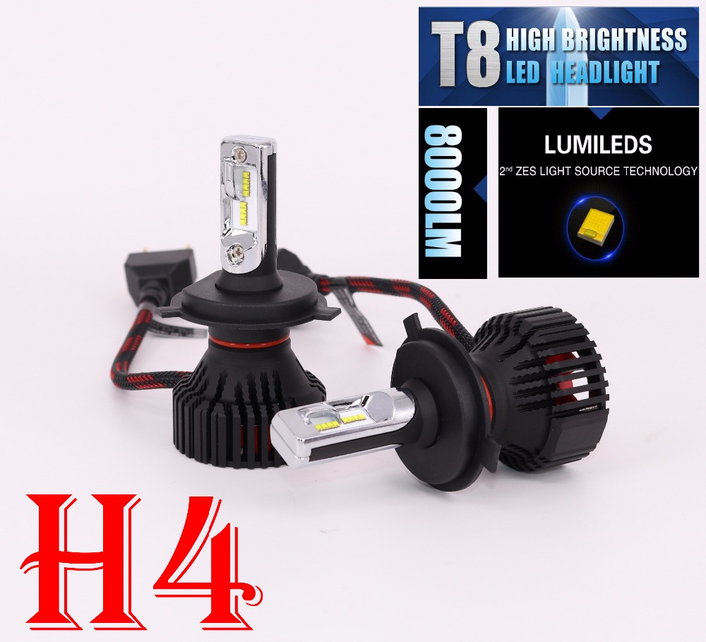 TOYIKIE 1Set H4 9003 HB2 60w 8000lm For Philips Lumileds Car LED Headlight Kit H/L Dual Beam DRL Driving Lamp 6500K 1set car led headlight h4 hb2 9003 hi lo beam headlamp conversion kit 8000lm for fog drl daytime head light source dc12v 24v
