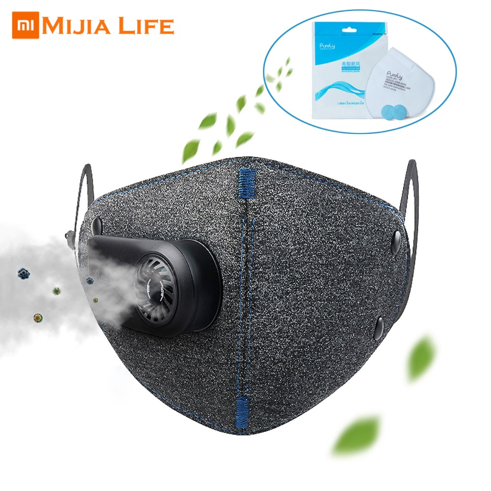Xiaomi Purely Anti Pollution Respirator PM2 5 Filter Dust Air Pollution Mask Outdoor Air Breathing Purifier