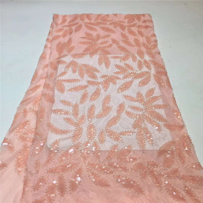 Latest Nigerian Sequins Laces Fabrics High Quality African Laces Fabric For Wedding Dress French Tulle Lace With Sequins Zha80-3 To Prevent And Cure Diseases Arts,crafts & Sewing Apparel Sewing & Fabric