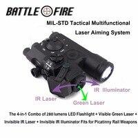 Многофункциональный целью Системы Тактический винтовка 280 lms светодиодный фонарик + зеленый лазерный прицел + ИК лазерный прицел + IR Просвет