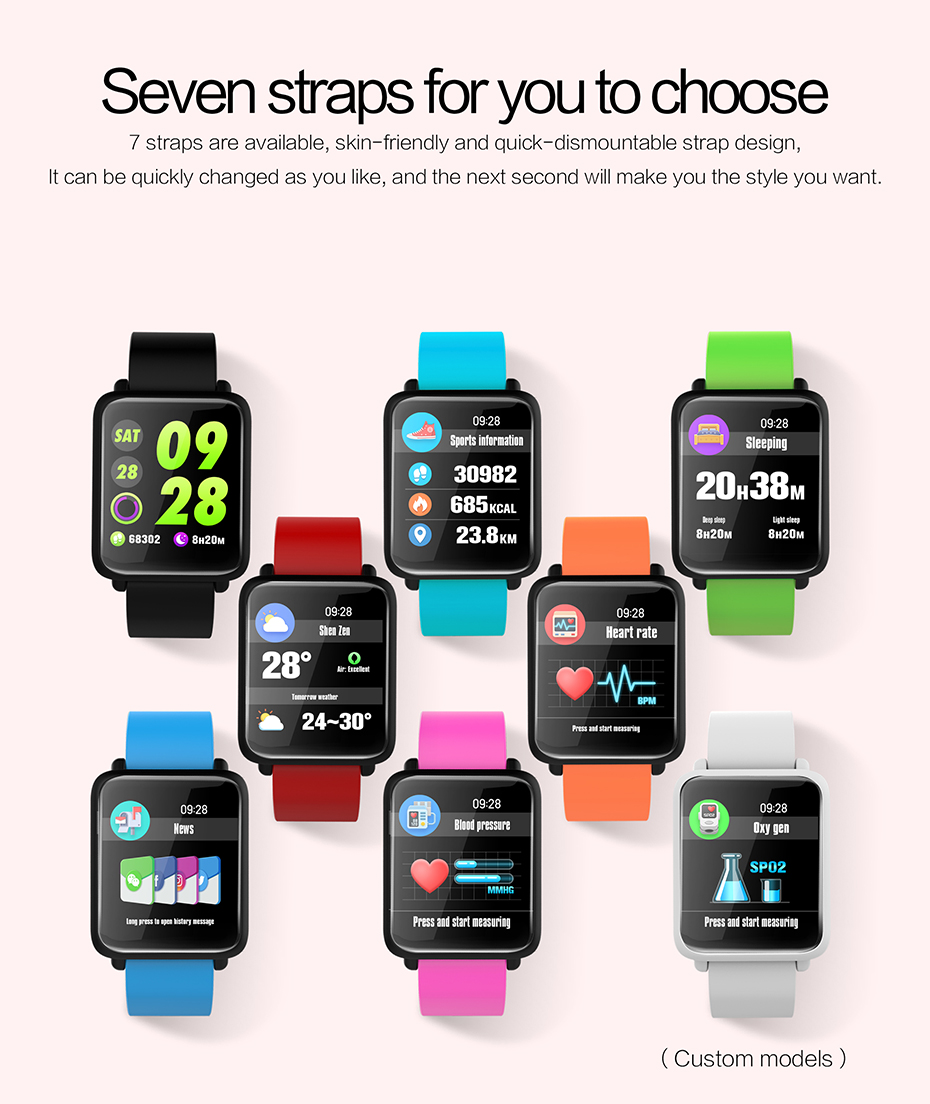 COLMI Smart Watch M28 IP68 Waterproof Bluetooth Heart Rate Blood Pressure Smartwatch for Xiao mi Android IOS Phone 10
