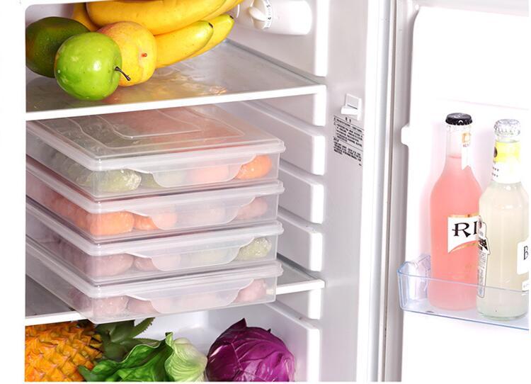 1PC Kitchen Dumpling Tray Home Frozen Dumpling Box Refrigerator Fresh keeping Box Food Freezer Storage Box LF 261 in Storage Boxes Bins from Home Garden