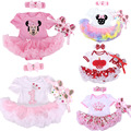 Wholesale Baby Infant 3pcs Clothing Sets Christmas Tutu Rompers Dress+Headband+Shoes Xmas Bebe Girl Birthday Jumpsuit Costumes