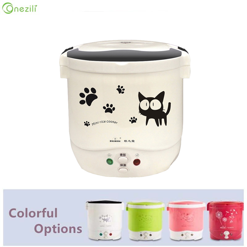 Mini Rice Cooker Electric Portable Rice Cooker Mini 1 Cups 12V Rice Cooker for Car 24V for Truck 110/220V for House English User home appliance