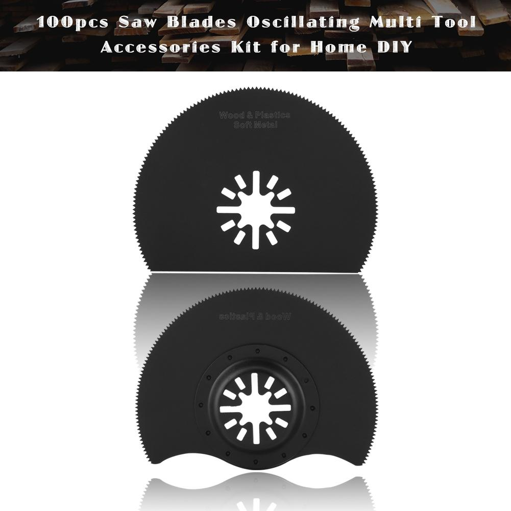 100pcs DIY Saw Blades Oscillating Multi Tool Accessories Kit for Home 10