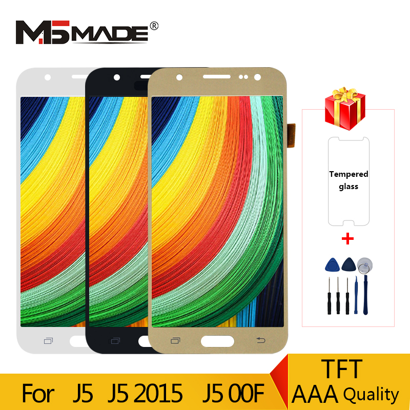 AAA Quality For Samsung Galaxy J5 2015 <font><b>J500</b></font> J500F J500FM J500Y LCD <font><b>Display</b></font> Touch Screen Digitizer Assembly Parts For <font><b>J500</b></font> LCD image