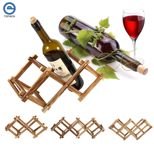 Wooden Wine Rack 3 5 6 Bottles Holder Storage Home Kitchen Bar Wine