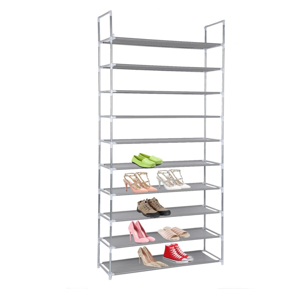 Capacity 50 Pair 10 Tier Shoes Storage Organizer Space Saving Tower Rack Lightweight Shoes Rack With Armrest Stackable ClosetCapacity 50 Pair 10 Tier Shoes Storage Organizer Space Saving Tower Rack Lightweight Shoes Rack With Armrest Stackable Closet