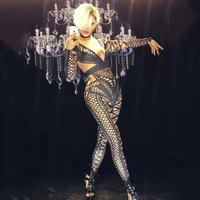 new Sexy Stage black Jumpsuit Costume One piece Nightclub Dance Outfit Party Wear Singer Stage Performance gogo singer Clothes