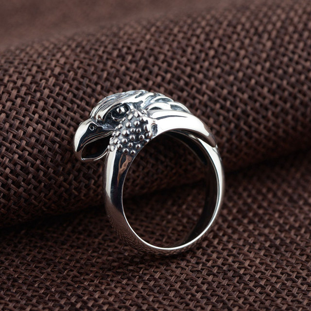 925 Sterling Silver Eagle Ring 100 Real S925 Thai Silver Rings for