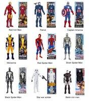 30CM 1pc Captain America Iron Man The Spider Man Wolverine PVC Action Figure High Quality Children