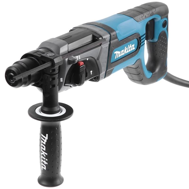 Electric hammer drill Makita HR2475 power 780 W impact energy 27Дж SDS + drill chuck