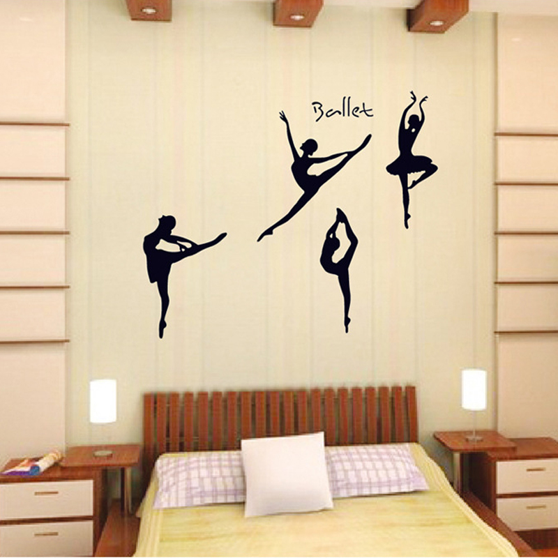 DIY Wall Sticker Wall Decals Lovely Ballet Girls Bedroom Kids Baby Poster  Stickers For Home Decor Decoration ... Part 93