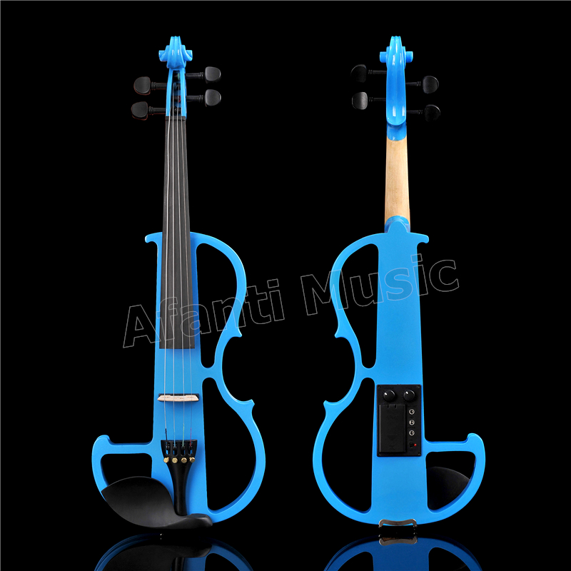 Afanti Music 4/4 Electric Violin with Hardcase, Earphone, connecting line(ADK-170)