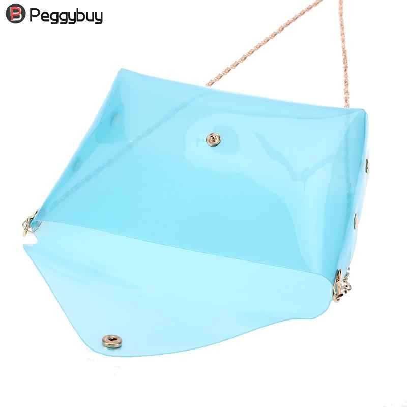 9afbd5c353 ... Women Soft Plastic Transparent Chain Bag Small Shoulder Crossbody Bag  Girls Messenger Bag Mini Shell Cool ...