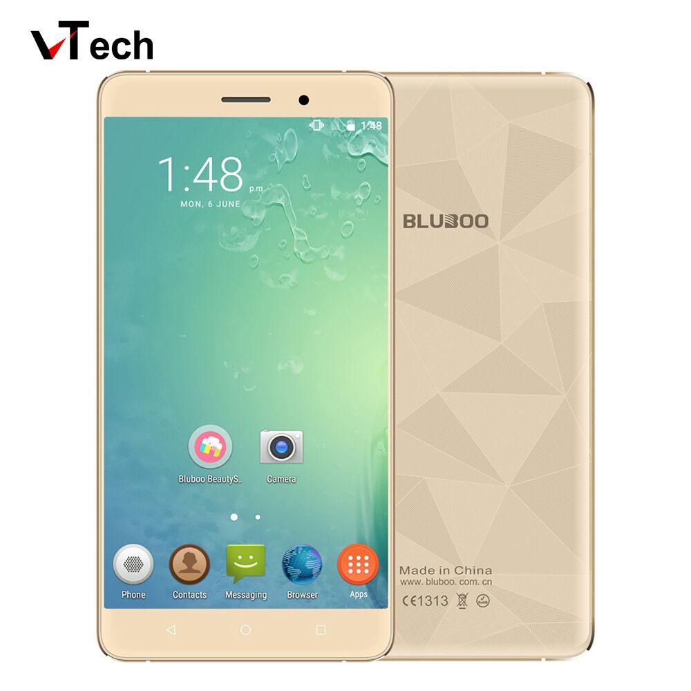 Bluboo Maya Smartphone 5.5 Pouce HD IPS MTK6580A Quad Core Android 6.0 Mobile Cellulaire Téléphone 13MP CAM 2 GB RAM 16 GB ROM 3G WCDMA
