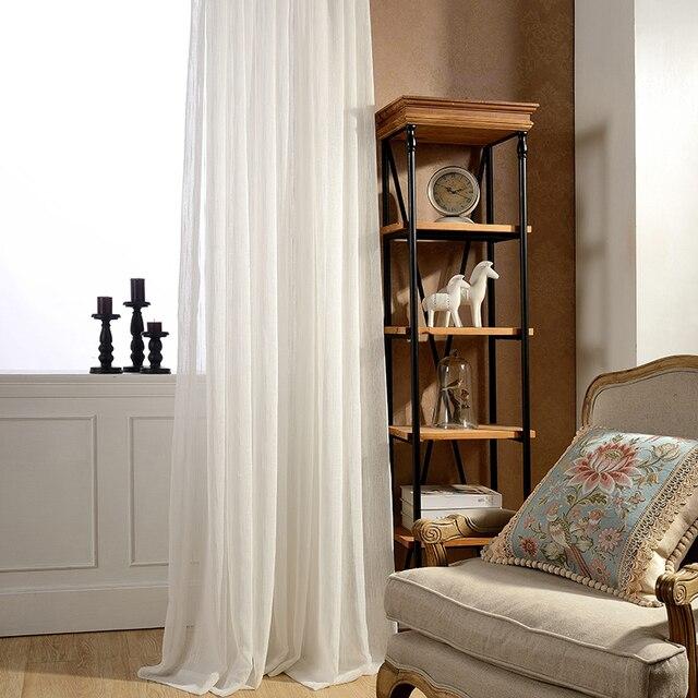 DSinterior colore bianco di tulle sheer tenda per la camera da letto o soggiorno finestra