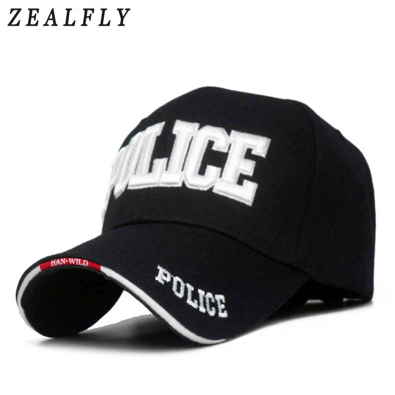 Embroidered POLICE Hats Caps Men Outdoor Sport Baseball Cap Women Snapback Bone Masculino Army Cap Letter Trucker Gorras