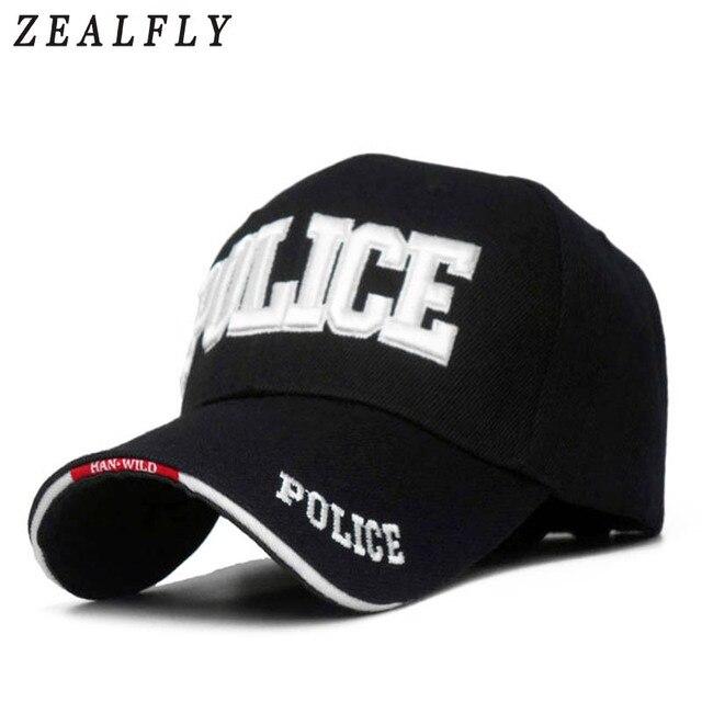Embroidered POLICE Hats Caps Men Outdoor Sport Baseball Cap Women Snapback  Bone Masculino Army Cap Letter 5bedbd4d7a71