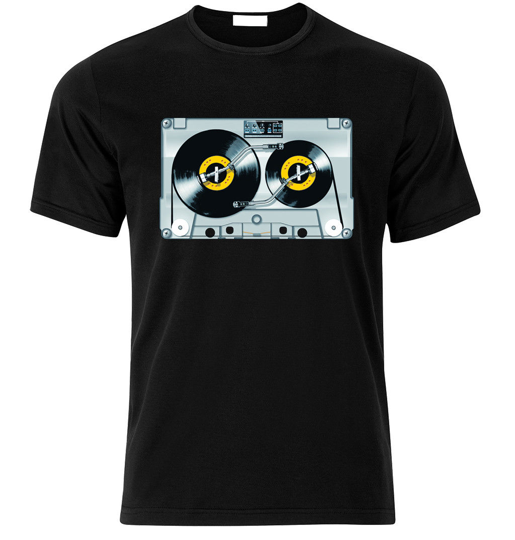2018 Hot sale Fashion Old school DJ tape vinyl retro Cassette 80s 90s Music T-SHIRT T Shirt S-XXL Tee shirt