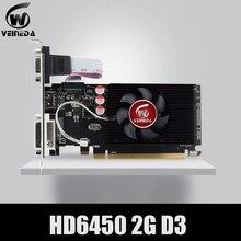 Оригинальные видеокарты GPU Veineda HD6450 2 ГБ DDR3 HDMI Графические видеокарты PCI Express для игр ATI Radeon