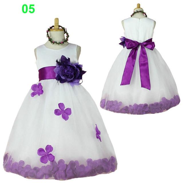 Blumenmädchenkleider weiß und lila kinder kleinkind kleidung kleider ...
