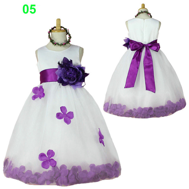 Flower girl dresses white and purple children infant clothing flower girl dresses white and purple children infant clothing dresses little girl party wedding kids dress mightylinksfo