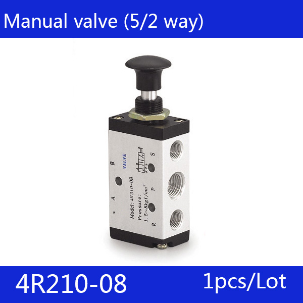 Free Shipping 1/4 2 Position 5 Port  Air Manual valves 4R210-08 Pneumatic Control Valve 2pcs free shipping 2 position 5 port air solenoid valves 4v210 08 pneumatic control valve dc12v dc24v ac36v ac110v 220v 380v