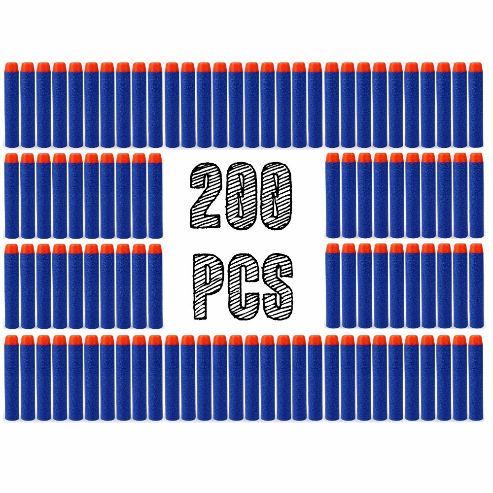 200pcs Foam Guns Accessories Refill Darts Bullets For Nerf N strike Elite Series Blasters Children Toy