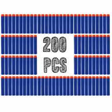 200pcs Foam Guns Accessories Refill Darts Bullets For Nerf N-strike Elite Series Blasters Children Toy Gun Blue Soft Bullet
