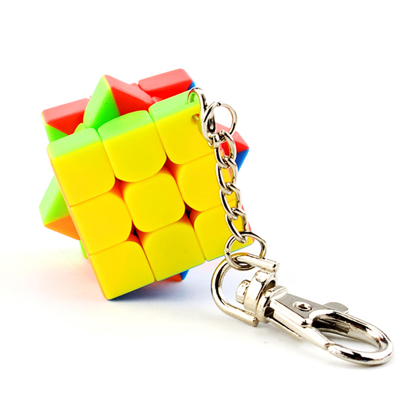KeyChain Magic Cube Neo High Quality ABS Rubiks Cube 3x3x3 Classic Toys Neo Speedcube 30mm Puzzle 3*3*3 Key Chain Rubiks Cube
