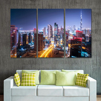 Unframed Mordern Oil Painting Canvas Art Print Posters City Landscape Wall Pictures For Living Room Wall