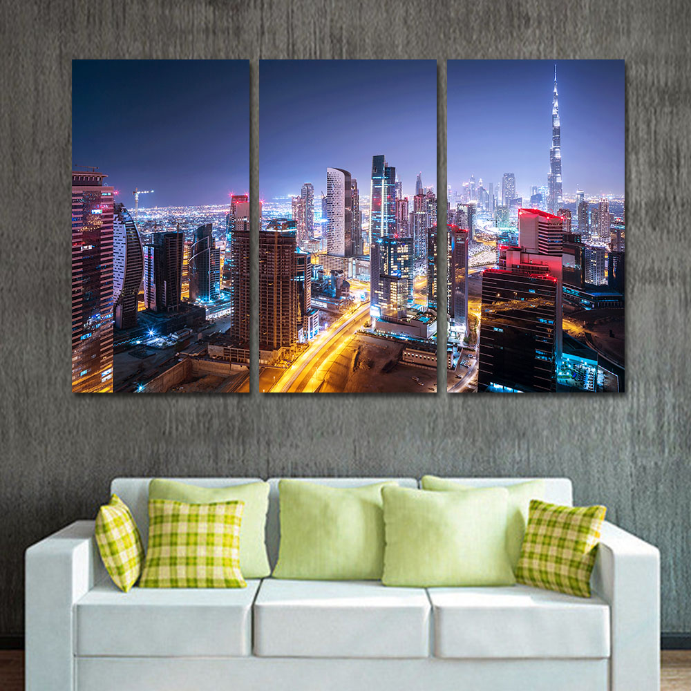 unframed modern oil painting canvas art print posters city landscape wall pictures for living. Black Bedroom Furniture Sets. Home Design Ideas