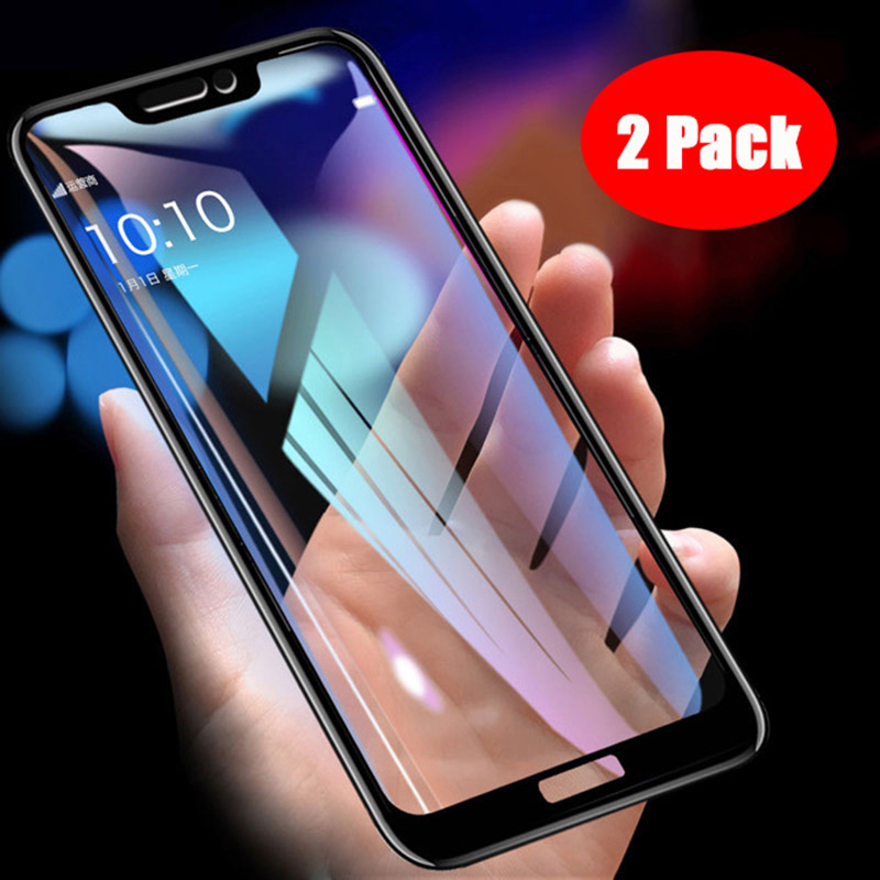 2 Packs For Huawei Honor 8C Tempered Glass 9H Explosion-proof Screen Pr