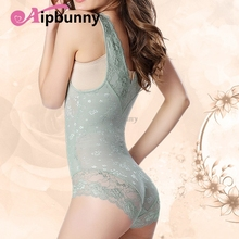 Sexy Up Faja Mesh Bustier Seemless Breathable Bodyshaper  Waist Slimming Push Shapewear Lace Corset Lingerie Trainer